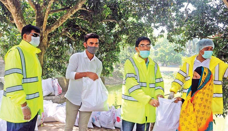 Relief distribution among helpless people