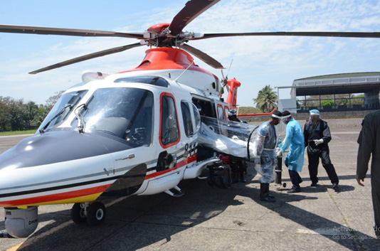 COVID-19: Air Force's special helicopter ready to carry patients
