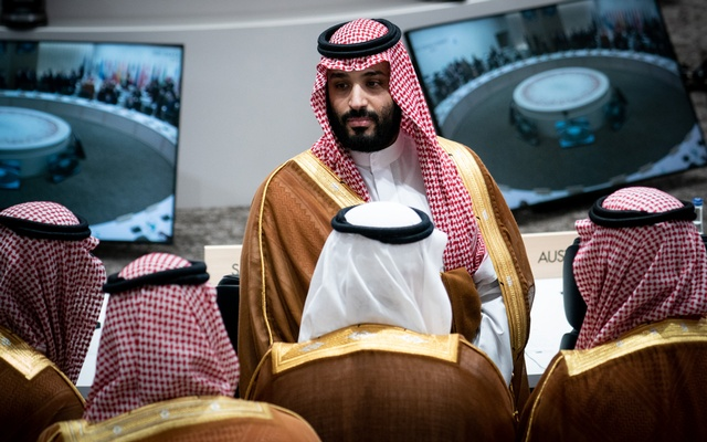 Crown Prince Mohammed bin Salman of Saudi Arabia attends a session regarding women's empowerment and labour issues at the G-20 Summit in Osaka, Japan, June 29, 2019. (Erin Schaff/The New York Times)