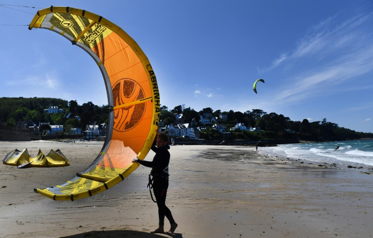 Beaches are open again across much of France as the country eases its coronavirus restrictions. Photo: AFP