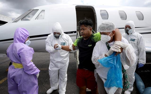 Brazilian doctors medevac indigenous COVID-19 cases to Amazon city