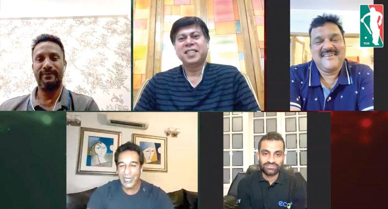 Tamim Iqbal Live with Nannu, Akram Khan, Pilot and Wasim Akram. photo:: facebook screenshot