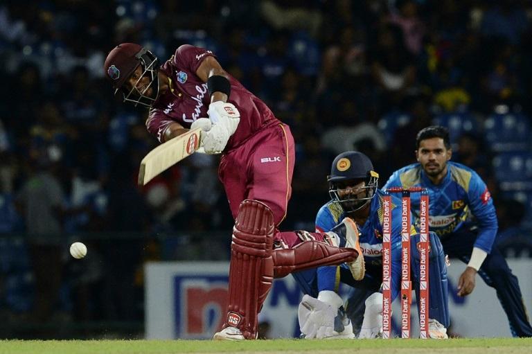 Home star: West Indies batsman Sunil Ambris | AFP