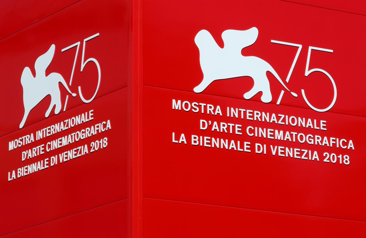 The logo of the 75th Venice Film Festival is seen in Venice, Italy August 28, 2018. File photo: Reuters