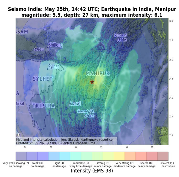 Moderate earthquake jolts country