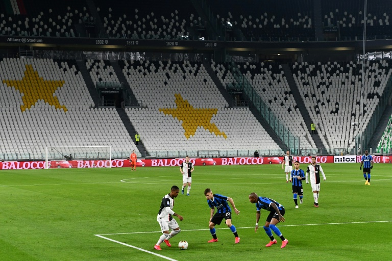 Serie A football has been suspended since March 9. Photo: AFP