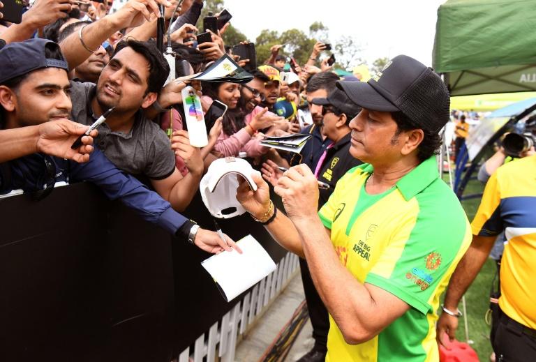 Record-breaking batsman Sachin Tendulkar is worshipped by Indian cricket fans. Photo: AFP