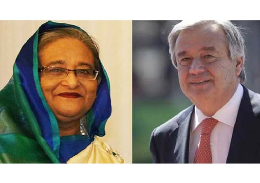 UN chief greets PM on Int'l UN Peacekeepers' Day