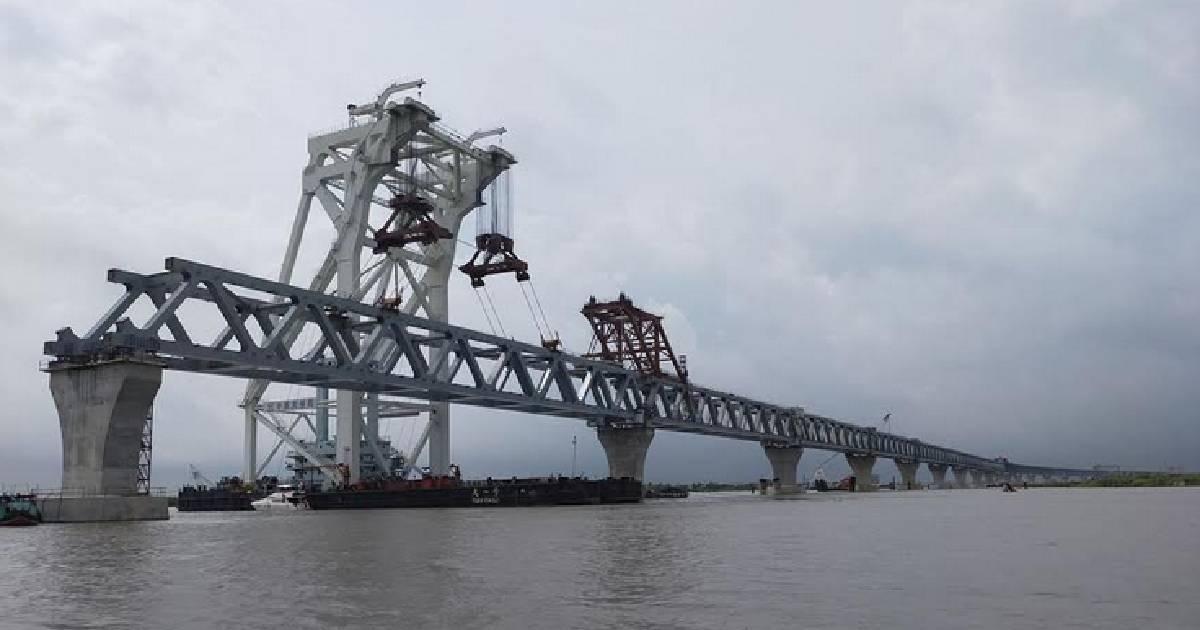 4.5km of Padma Bridge now visible