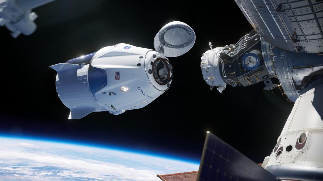 SpaceX Crew Dragon docks with Int'l Space Station