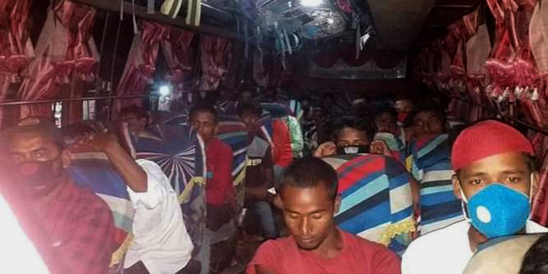 Bus fined for carrying extra passengers in Kurigram