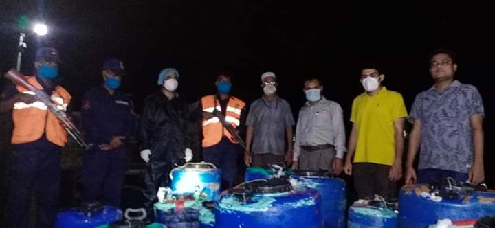 4 lakh shrimp fry recovered in Laxmipur