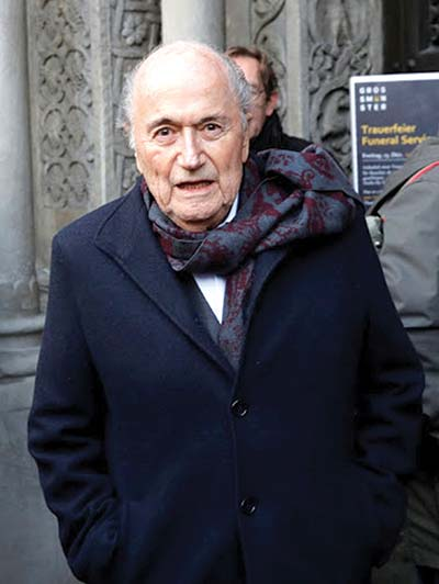 Blatter says Swiss have dropped one of his corruption cases