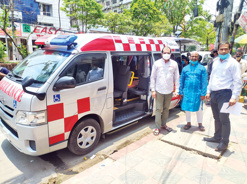 Model Group of Industries started giving free ambulance services for the corona-infected patients
