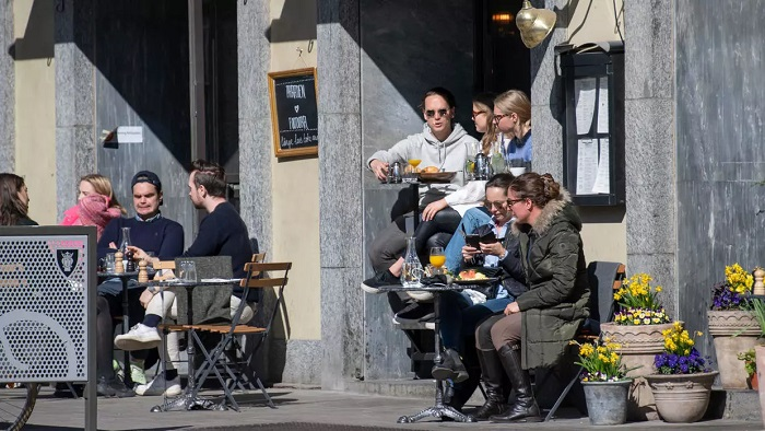 Most businesses have remained open in Sweden during the pandemic Anders WIKLUND TT News Agency/AFP
