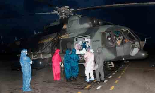 Coronavirus infected Dr Kader flown to Dhaka by helicopter