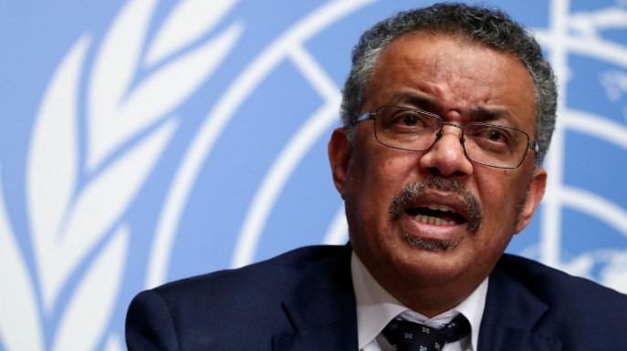 FILE PHOTO: Director-General of the World Health Organization (WHO) Tedros Adhanom Ghebreyesus speaks during a news conference on the situation of the coronavirus at the United Nations, in Geneva, Switzerland, January 29, 2020. REUTERS