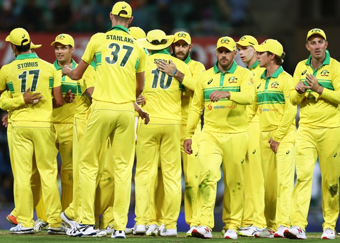 IMAGE: Australia last played an international match on March 13, when they beat New Zealand behind closed doors at the Sydney Cricket Ground just before the novel coronavirus outbreak forced the shutdown of all sport. Photograph: Matt King/Getty Images