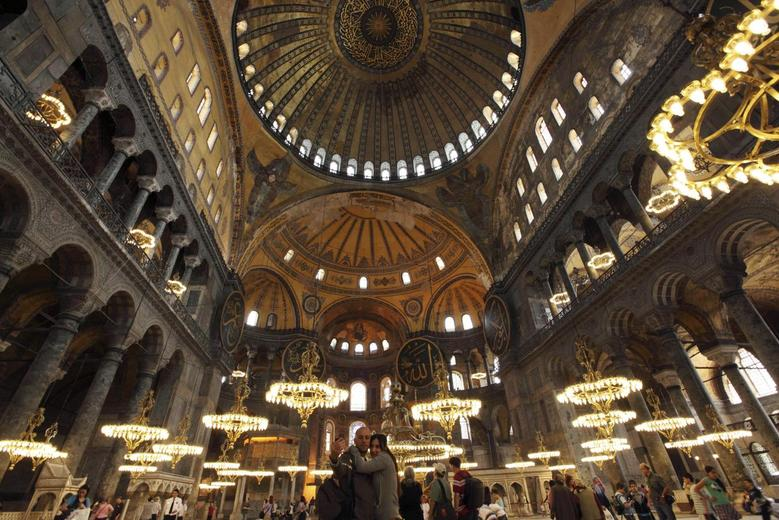 The Byzantine monument of Hagia Sophia or Ayasofya, now a museum, in Istanbul, Turkey. Photo: Reuters