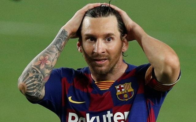 Barcelona's Lionel Messi reacts, as play resumes behind closed doors following the outbreak of the coronavirus disease (COVID-19). Football - La Liga Santander - FC Barcelona v Athletic Bilbao - Camp Nou, Barcelona, Spain - June 23, 2020. Reuters