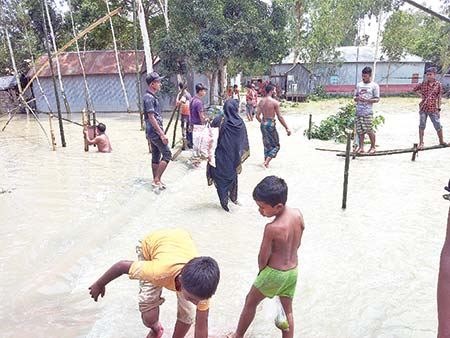 Flood in Bhuapur Upazila of Tangail.photo: observer