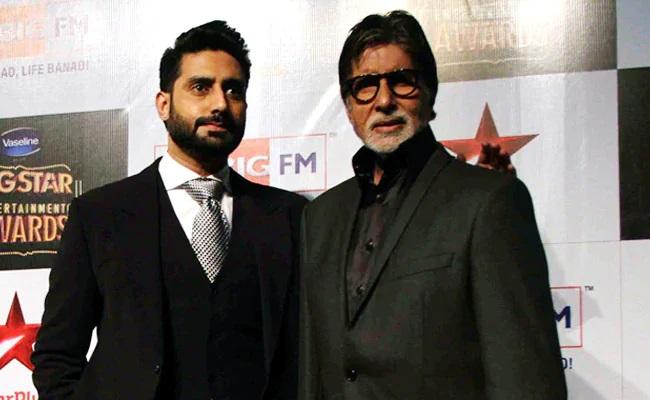 Coronavirus: Amitabh Bachchan (right) and Abhishek Bachchan were admitted to a hospital.