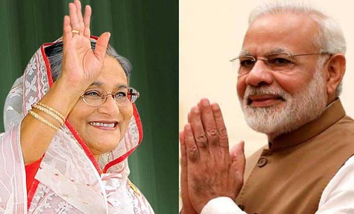 Modi greets Hasina