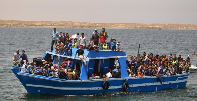Illegal migrants are seen on a boat after being rescued by the Tunisian navy off the coast near Ben Guerdane, Tunisia. (Reuters/File Photo)