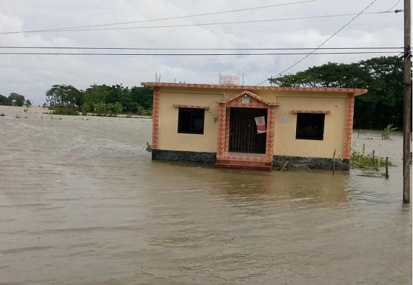 Ramgati villages flooded in high tide