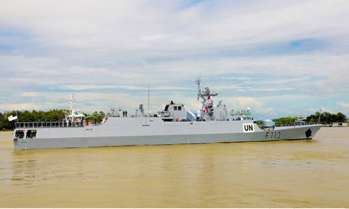 'BNS Sangram' sails for Lebanon to join UNIFIL