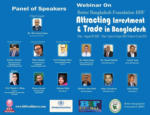 Webinar Conference on foreign investment between BIDA and BBF Global held