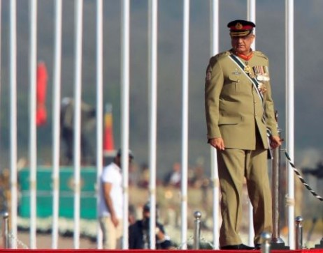 Pakistan's Army Chief of Staff General Qamar Javed Bajwa arrives to attend the Pakistan Day military parade in Islamabad, Pakistan, March 23, 2017. Photo: Reuters