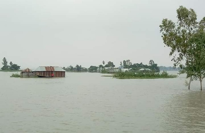 Sudden rise in Jamuna water-level leaves Sirajganj people perplexed