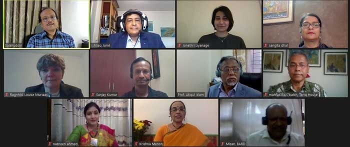 """North South University (NSU) in collaboration with the South Asian Institution of Policy and Governance (SIPG) of NSU organized a virtual launching program of the book titled """"Gender Mainstreaming in Politics, Administration and Development in South Asia"""" 
