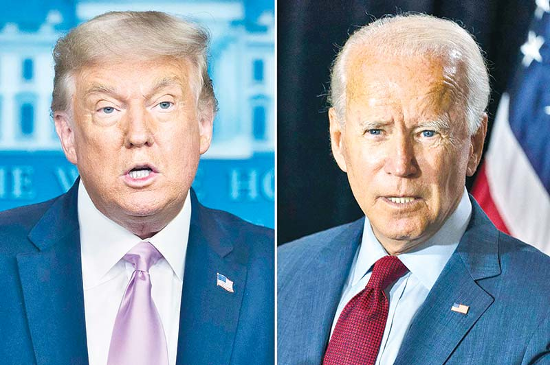 Trump, Biden clash as campaign turns to climate change