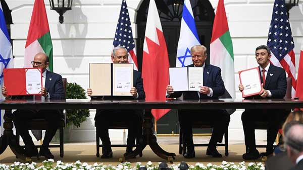 UAE and Bahrain sign US-brokered deals with Israel