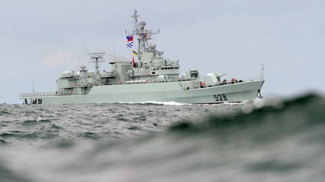 Image copyrightGETTY IMAGES Image caption A file photo of a Chinese People's Liberation Army warship