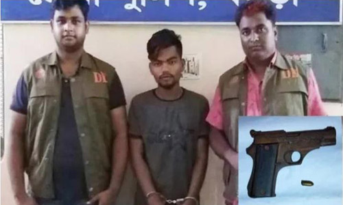 Arms trader held with pistol in Bogura