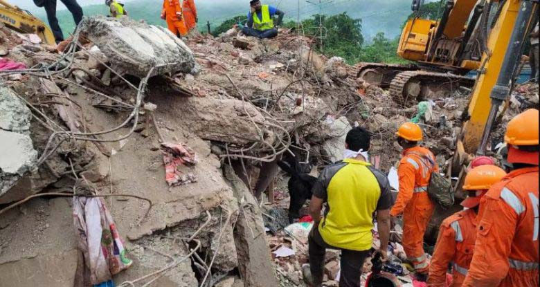 10 killed, dozens feared trapped as building collapses near Mumbai