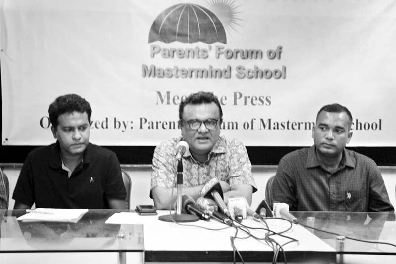 Parents Forum of Mastermind School organised a press conference