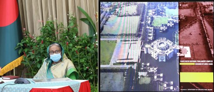 PM witnesses presentation on JS Bhaban development
