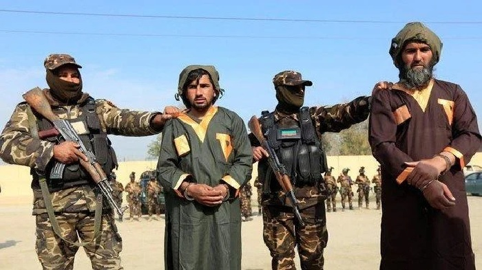 Captured Taliban insurgents are presented to the media after being detained with car explosive devices in Jalalabad, Afghanistan, December 10, 2019. (Reuters)