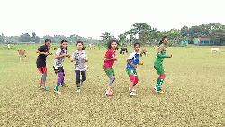 Kalshindur girls keeping fit for upcoming events