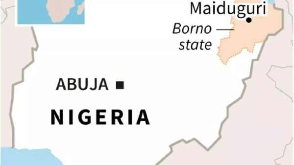 Two sources aid fatalities from the attack in restive Borno state had doubled as more bodies were found and included 12 policemen, five soldiers, four members of a government-backed militia and nine civilians AFP/File