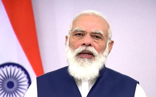 Indian Prime Minister Narendra Modi delivers his speech virtually during the 75th United Nations General Assembly on Sep 26, 2020.  Photo: Screengrab of UN Web TV video.
