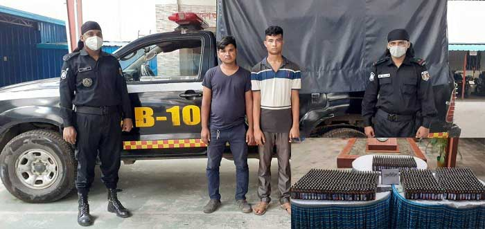 Two held with Phensedyl syrup in city