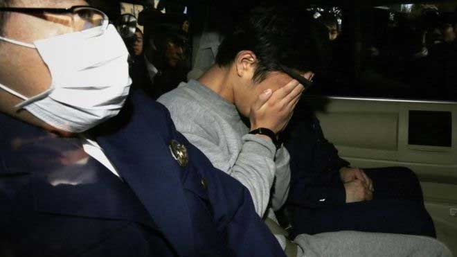 Takahiro Shiraishi after his arrest in 2017   Getty