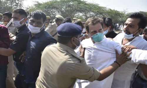 Congress leaders Rahul, Priyanka detained for defying ban