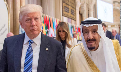 US President Donald Trump, Saudi King Salman bin Abdulaziz