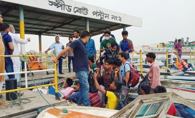 Launch services on Shimulia-Kanthalbari route halted following poor navigability